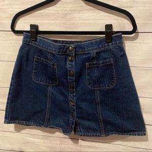 BDG UO High Waisted Denim Snap Skirt